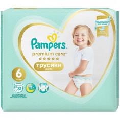 Scutece Pampers Premium Care Pants 6 Value Pack, 31 bucati
