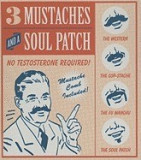 3 Mustaches and a Soul Patch: No Testosterone Required! [With Mini Book and 3 Mustaches, Soul Patch, Mustache Comb, Valet]