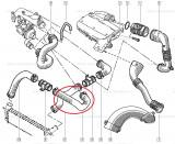 Furtun aer intercooler Renault Kangoo, conducta originala 7701053939 Kft Auto, Automobile Dacia Mioveni