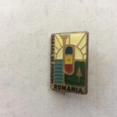 insigna tabara de pionieri romania RSR epoca de aur perioada comunista pionier