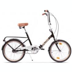 Bicicleta Pegas Practic Retro, Cadru 16inch, Roti 20inch (Negru)