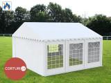 6X6 M CORT EVENIMENTE PROFESIONAL ECONOMY, PVC ignifug 500g/m² ALB