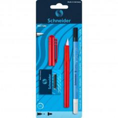 Set Stilou Schneider Unicolor rosu