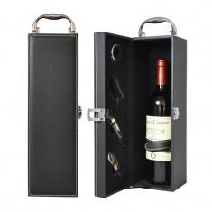 Cutie eleganta cu accesorii pentru vin