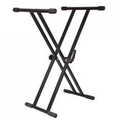 Stativ orga, claviatura Ibiza neagra, greutate suportata 75 kg