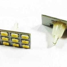 Bec T10 pozitie / plafoniera / numar 12 LED SMD CANBUS, 1 buc