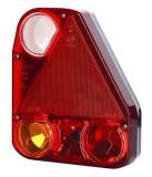 Stop lampa spate dreapta cu bulb deschis 12 24V, semnalizator, lumini marsarier, lampa stop, lumina parcare, triunghi reflector, cu fire fara bulb