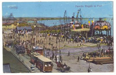 2860 - GALATI, Regale, Royal Family in harbor, ship - old postcard CENSOR - used foto