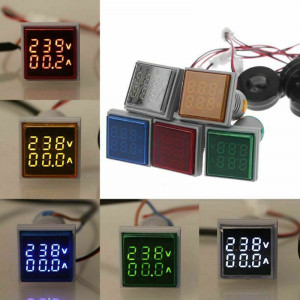 Voltmetru ampermetru VOLTAMPERMETRU 220V AC de panou DIGITAL pret 60-500V 0-100A