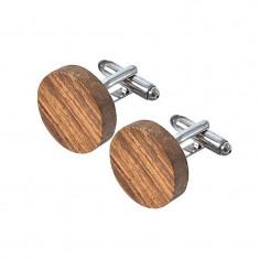 Butoni pentru camasa Rosewood, din lemn de palisandru lucrat manual