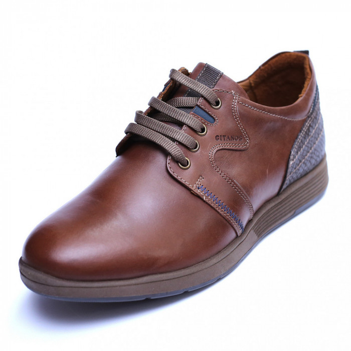 Pantofi barbati din piele naturala, Martin, Gitanos, Maro, 39 EU
