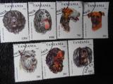 TANZANIA -RASE DE CAINI-SERIE COMPLETA- STAMPILATE, Stampilat