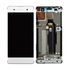 Ansamblu display touchscreen rama Sony Xperia XA F3111 alb