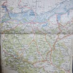 Harta Călărași-Silistra, Plevna, Bazargic, Cuzgun, Ostrov, Ștefan Vodă, 1928