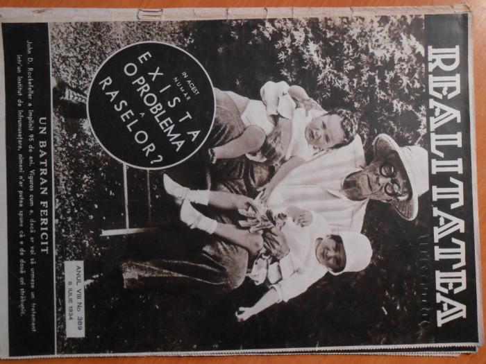 Revista Realitatea Ilustrata, 8 iul 1934, stare foarte buna