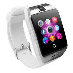"Smartwatch Vogue Q18 Curved cu Camera si Telefon 3G Alb Display 1.54"" Bluetooth"