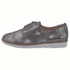 Pantofi dama, din piele naturala, marca Caprice, 9-23608-20-12-03, auriu