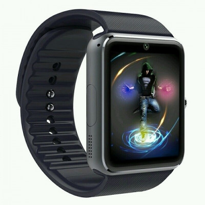 Ceas Smartwatch cu Telefon GT, Camera 1,3 Mpx, Apelare BT, IOS-ANDROID, Black edition foto