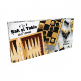 Set sah si table din lemn Noriel Games