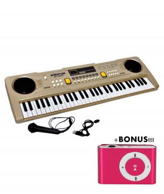 PROMOTIE! ORGA 61 TASTE,MICROFON,INREGISTRARE,ALIMENTARE PRIZA USB+BONUS MP3 !! foto