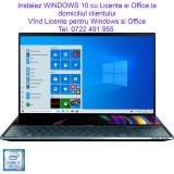 Instalez WINDOWS 10 Pro cu Licenta si Office la domiciliul clientului