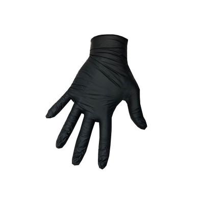 Manusi nitril Deliclean marimea XL, negre, 100 bucati/cutie, nepudrate foto