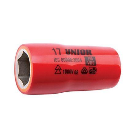 "Cap cheie tubulara izolata 1/2"", marca Unior cu diametru de 24 mm"