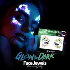 Paiete pentru make-up reactive UV, efect Swarovski neon, autoadezive