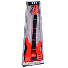 Instrument muzical de jucarie, model chitara cu sunete si lumini, 63 cm