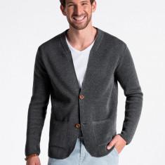 Pulover premium stil sacou barbati E168 gri