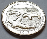 25 cents / quarter 2017 SUA, Iowa, Effigy Mounds, litera D, America de Nord