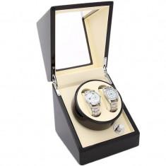 Cutie pentru intors ceasuri automatice iUni, Watch Winder 2 Mahon-Crem