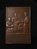 Placheta Medicina - 1910 - doctor C. Severeanu - medalie