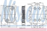 Termoflot radiator ulei CHEVROLET AVEO hatchback (T300) NISSENS 90700