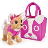 Cumpara ieftin Jucarie de plus Simba Catel Chi Chi Love Puppy 20 cm cu geanta