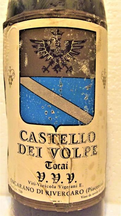 B 26- VIN TOCAI, CASTELLO DEI VOLPE, VVV, recoltare 1973 cl 72 gr 12,5