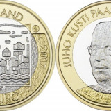 Finlanda moneda bimetal 5 euro 2017 UNC in capsula - Presedintele Juho Paasikivi, Europa