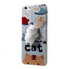 Husa APPLE iPhone 7 \ 8 - 4D Squishy (Cats in Heaven)