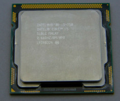 Procesor intel i5-750 quad core socket 1156 2.66-3.2 Ghz 8MB Cache + pasta foto