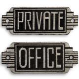 Decoratiune metalica art nouveau private/office SET-CS44-43, Ornamentale
