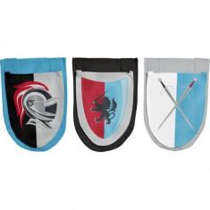 Set 3 buzunare cu tema Cavaler pentru pat semi-inalt Flexa