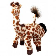 Papusa de mana Girafa Beleduc, multicolor, material textil