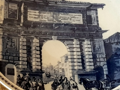 Reducere! Portelan Hutschenreuther - farfurie perete - tablou Poarta Romana foto