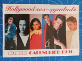 Sex simboluri masculine Hollywood - calendar A4 - 1996 - revista Super / Franta
