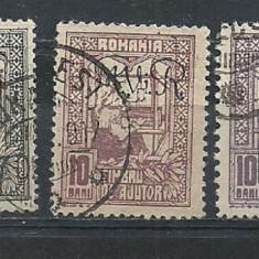 OCUPATIA GERMANA IN ROMANIA 1917-19, FISCALE CU SUPRATIPAR, EW9