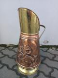 Elegant suport antic pentru bastoane, umbrele din cupru și alama