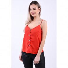 Maieu Vero Moda Sydnee Button Singlet Fiery Red