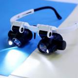 Lupa Ochelari lupa dubla Lumina LED 23x ochelari reparatii lupa 23x lupe repara