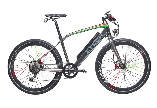 Bicicleta electrica cu cadru aluminiu ZT-85 RAPID (700C) ARGINTIU
