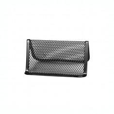 Suport pentru carti de vizita metalic mesh Forpus 30548 negru